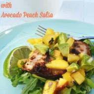 Chicken with Avocado Peach Salsa