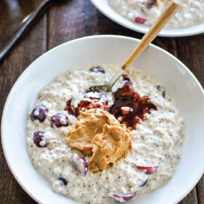 PB and J Overnight Oatmeal