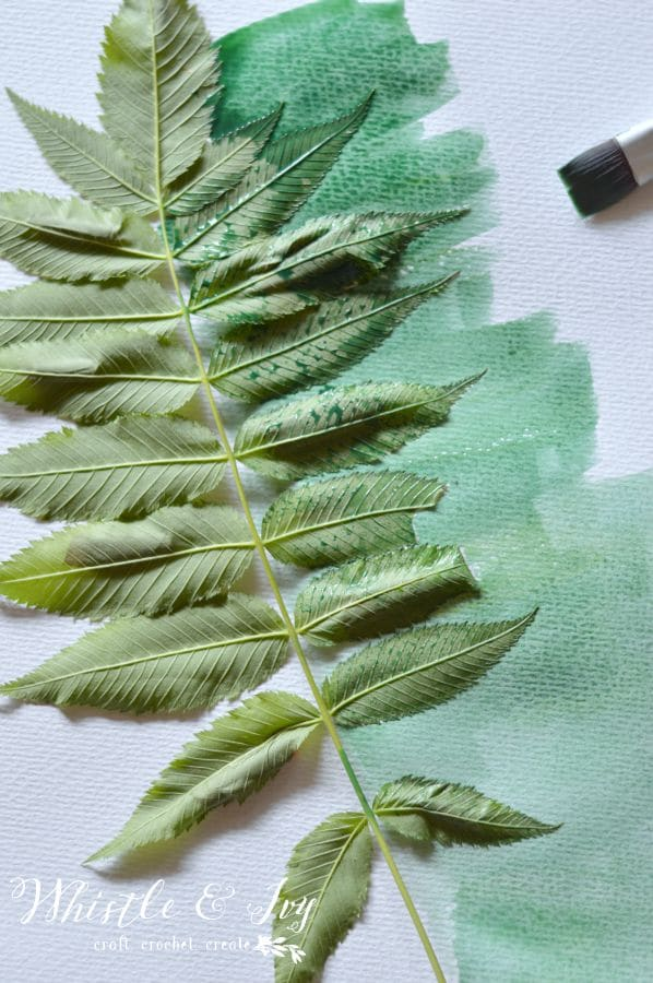 Make these beautiful watercolor leaf prints in just a few minutes. It's a perfect beginner's watercolor project!