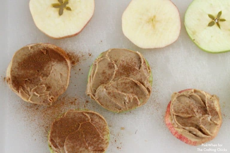 Apple Sandwich Snack idea PinkWhen for The Crafting Chicks