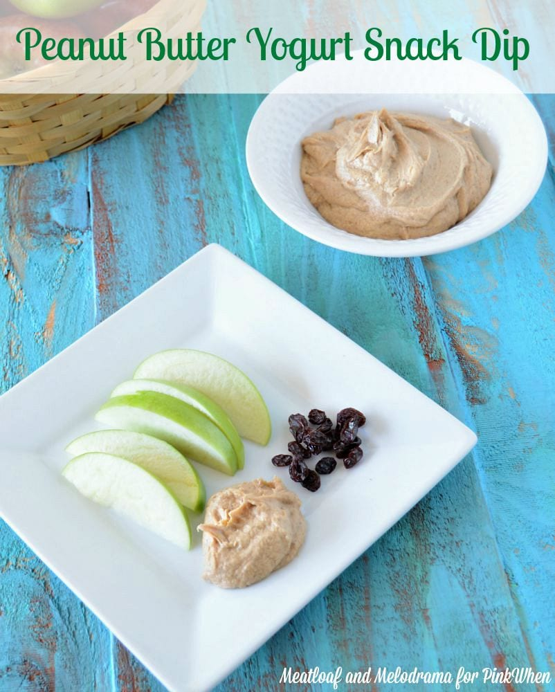 peanut butter yogurt snack dip