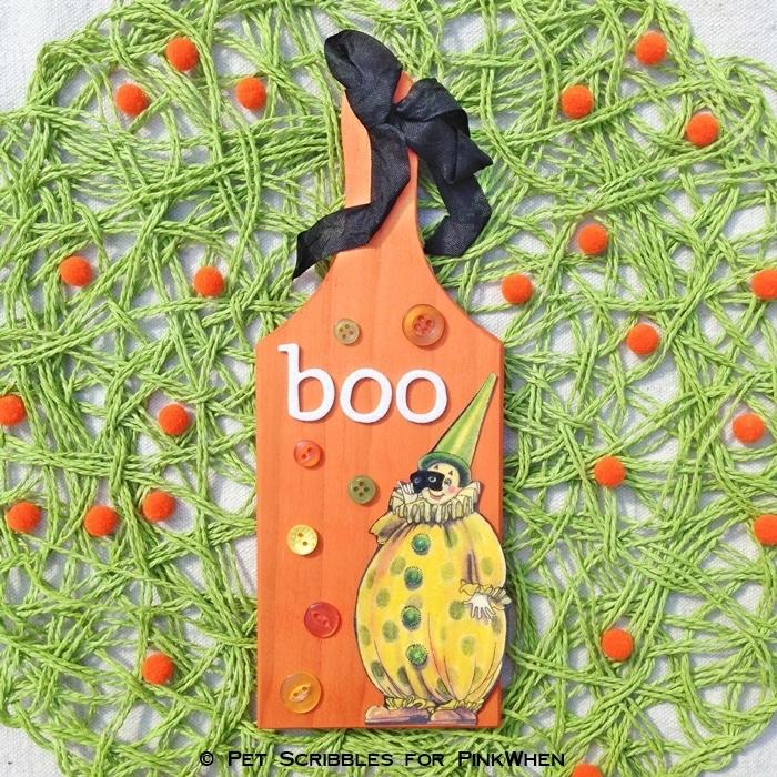 Boo Halloween Plaque