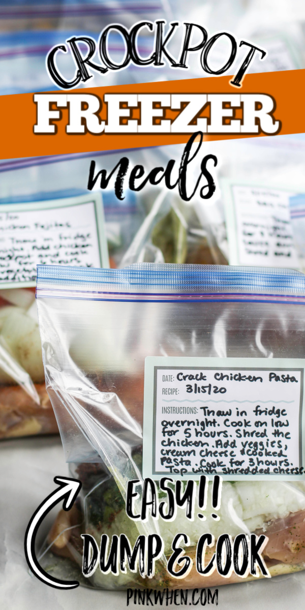 Crockpot Freezer Meals are the perfect way to meal prep for the week and save money on groceries and eating out. If you're looking for quick and easy ways to save time, check out this list of tips and recipes to pack your freezer and save money while you're doing it. You'll also get a free printable shopping list!