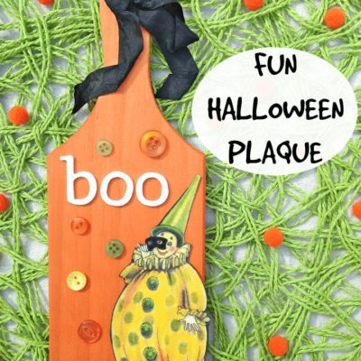 Fun DIY Halloween Plaque