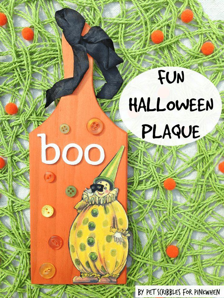 Fun Halloween Plaque