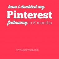 How I Doubled My Pinterest Following in 6 months
