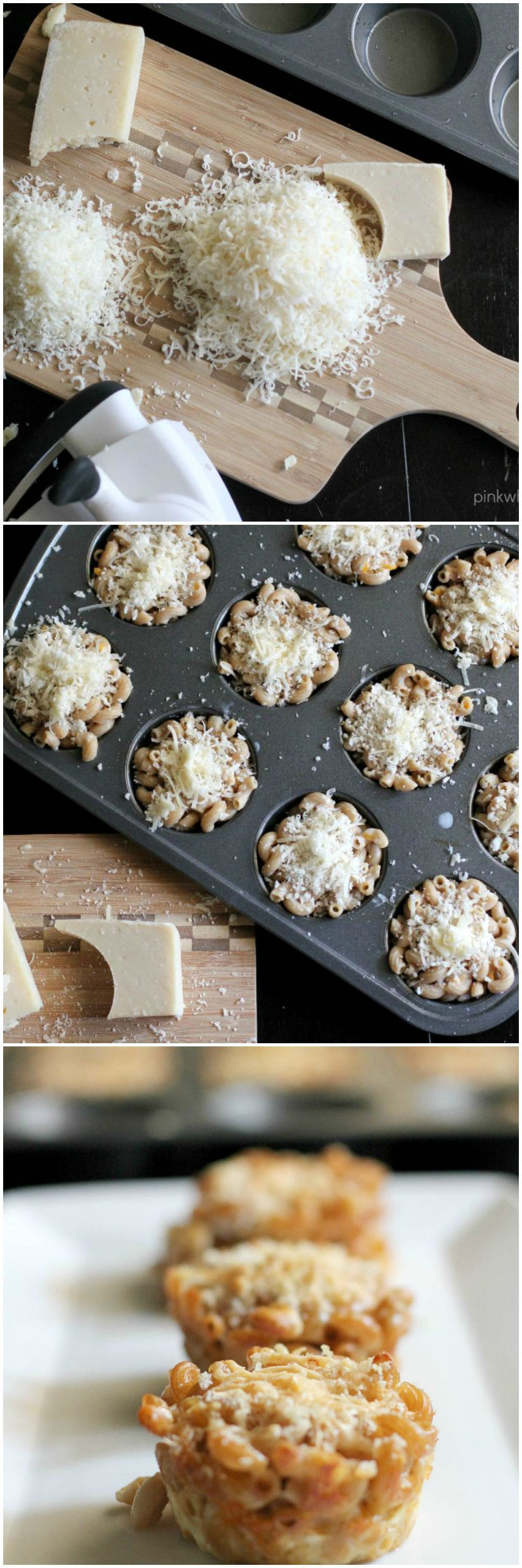 A different twist on homemade macaroni and cheese, these gourmet cheese muffin cups are a family favorite!