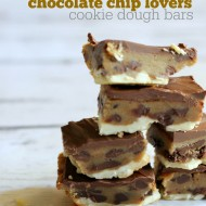 Ultimate Chocolate Chip Lovers Cookie Dough Bars