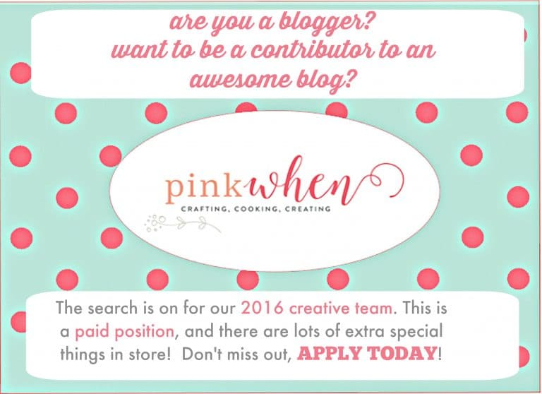 2016 PinkWhen Creative Team Search