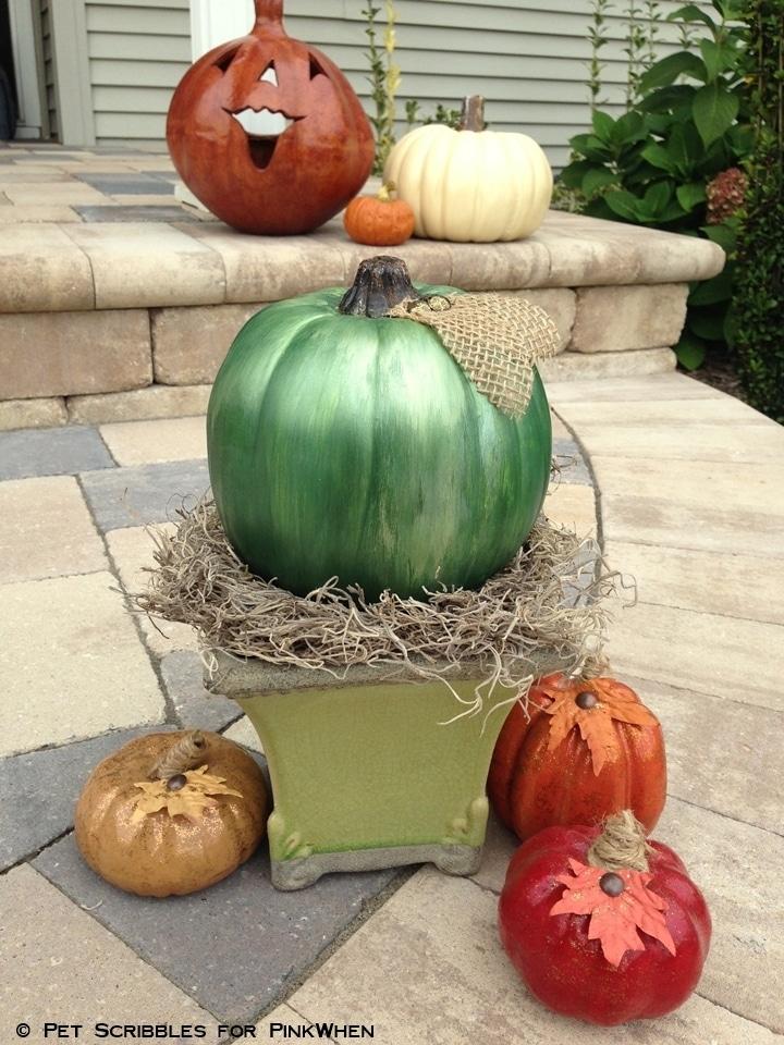 DIY Mercury Glass Pumpkin