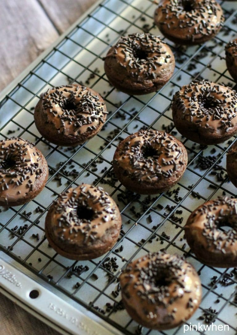 Death by Chocolate Triple Chocolate Donuts | PinkWhen