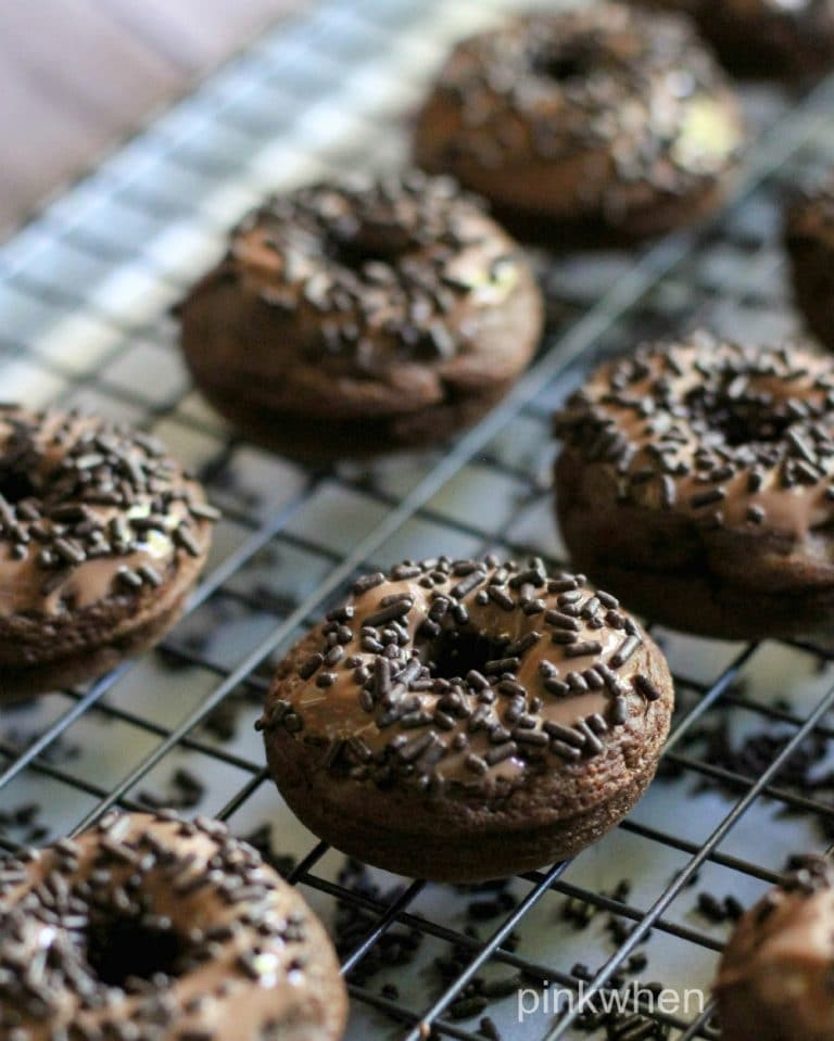 Death by Chocolate Triple Chocolate Donuts   PinkWhen