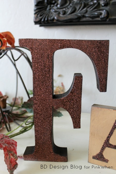 Fall Mantel Craft with Blocks - Such a cute and simple Fall Mantel idea