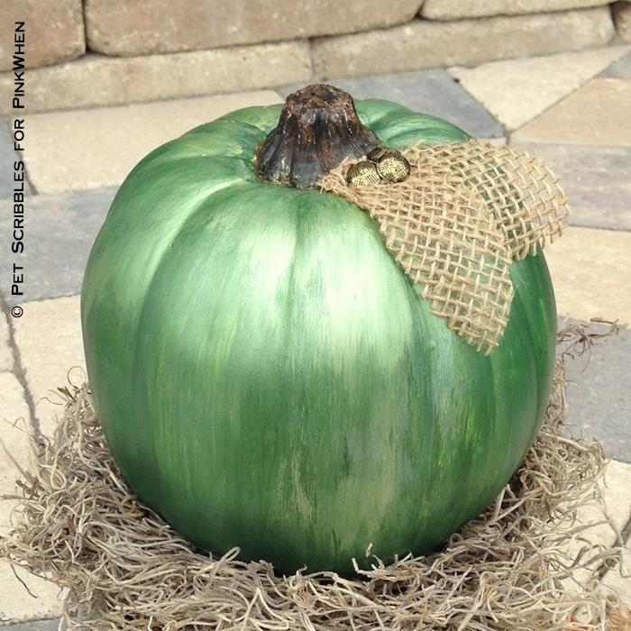 Green Mercury Glass Pumpkin