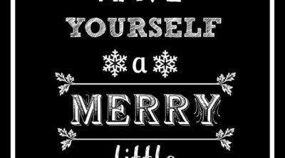5 Free Black and White Christmas Printables
