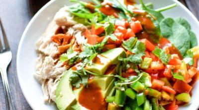 Thai Chopped Chicken Salad Quinoa Bowls