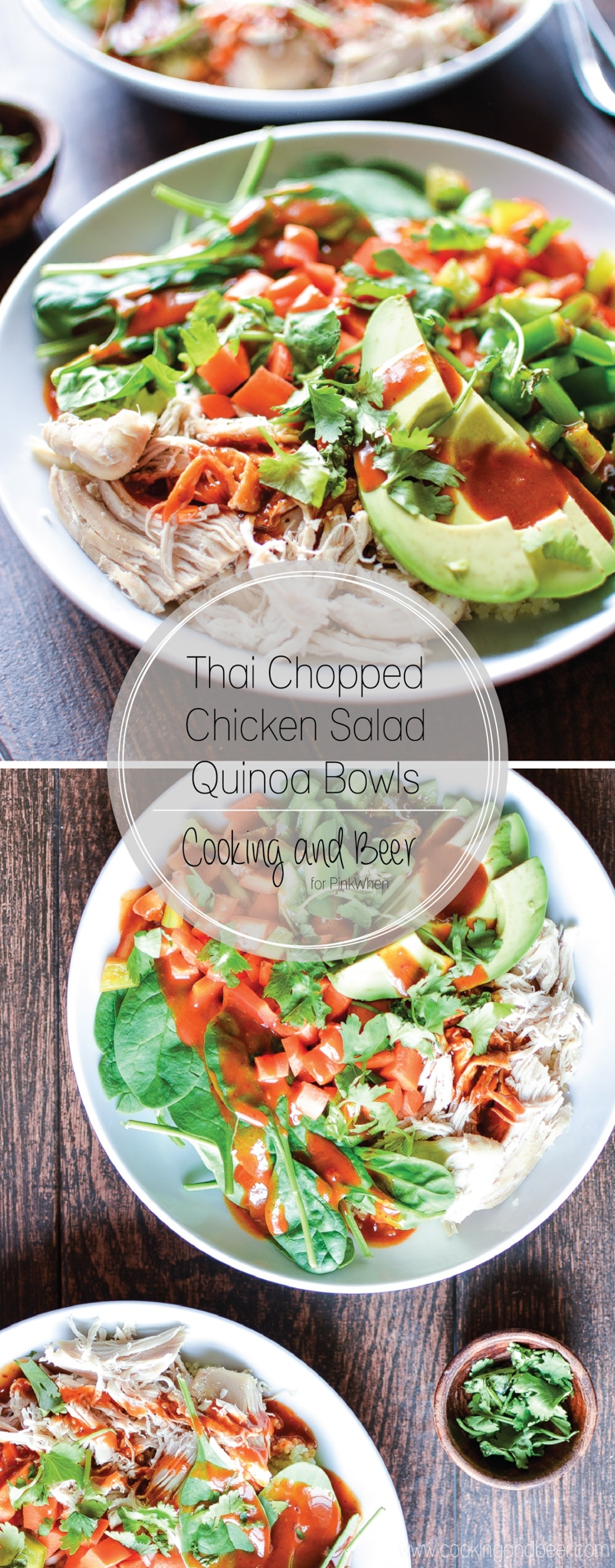 Thai Chopped Chicken Salad Quinoa Bowls