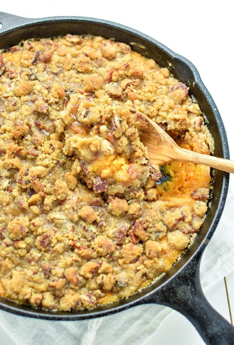 Skillet Sweet Potato Casserole