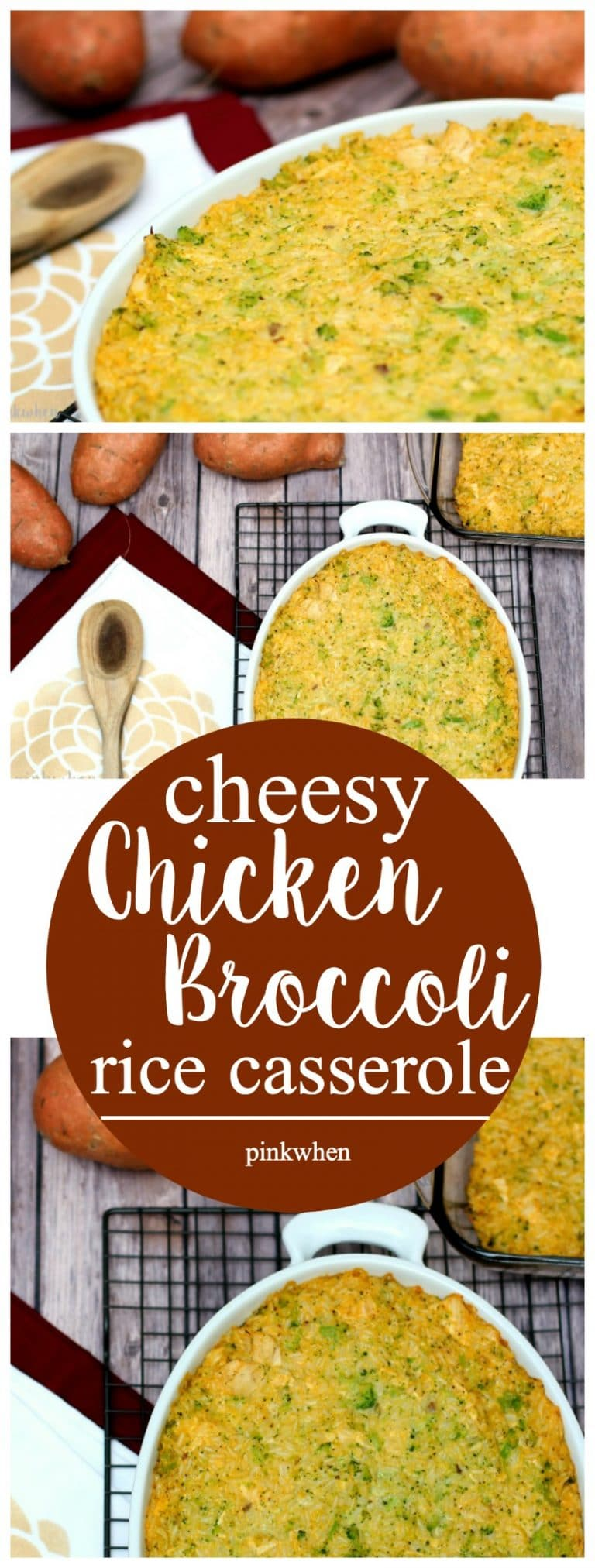 Looking for a Thanksgiving side dish? This Cheesy Chicken Broccoli Rice Casserole is AMAZING! So easy and so good. | PinkWhen