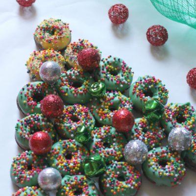 Donut Christmas Tree Dessert