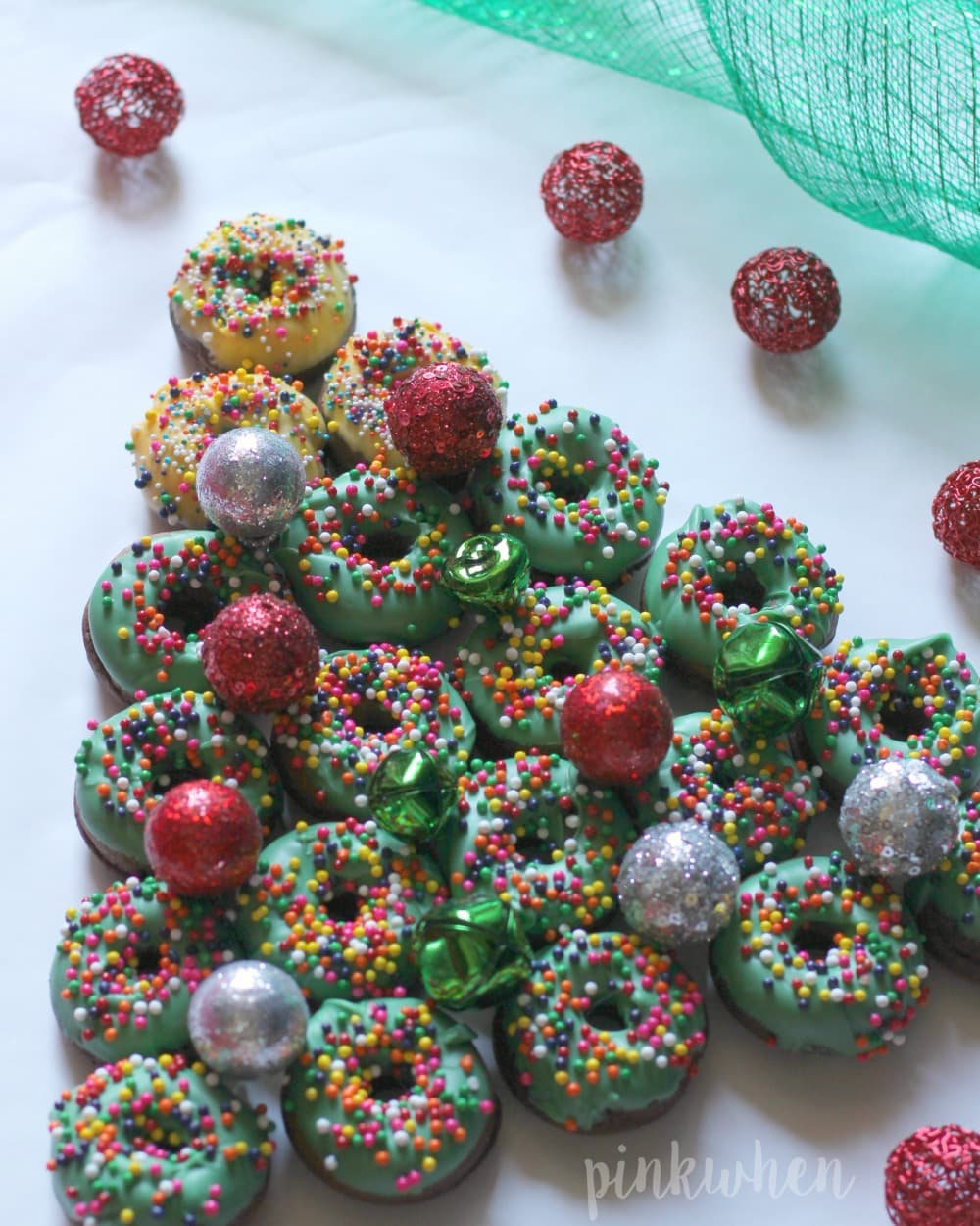 Christmas Donut Dessert Tree