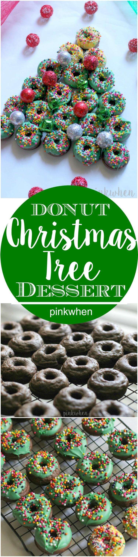 Donut Christmas Tree Dessert   PinkWhen