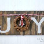 DIY Rustic JOY Sign | PinkWhen