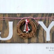 DIY Rustic JOY Sign