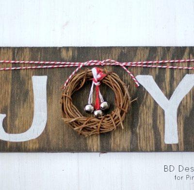 DIY Rustic JOY Sign