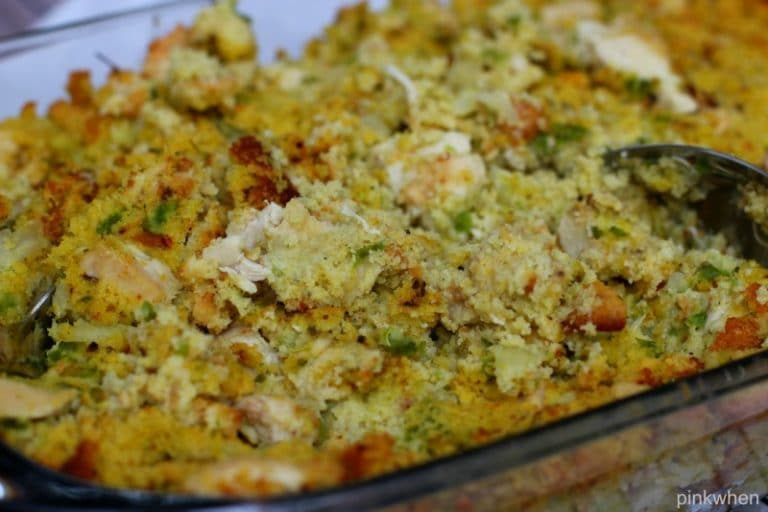 Delicious Chicken and Cornbread Dressing Recipe | PinkWhen