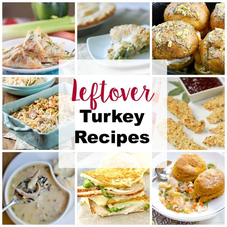 A great list of leftover turkey recipes! If you are looking for something to make with all of those leftovers the day after Thanksgiving, here is a great list of recipes! | PinkWhen