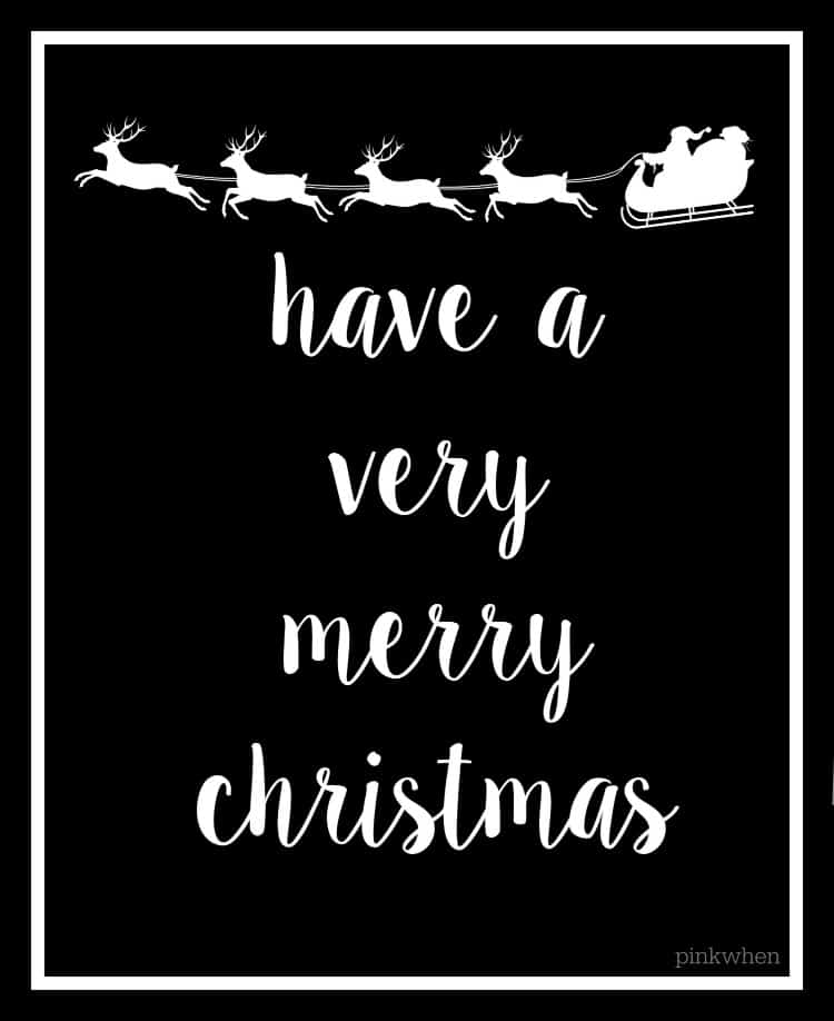 This is a picture of Magic Printable Christmas Cards Black and White