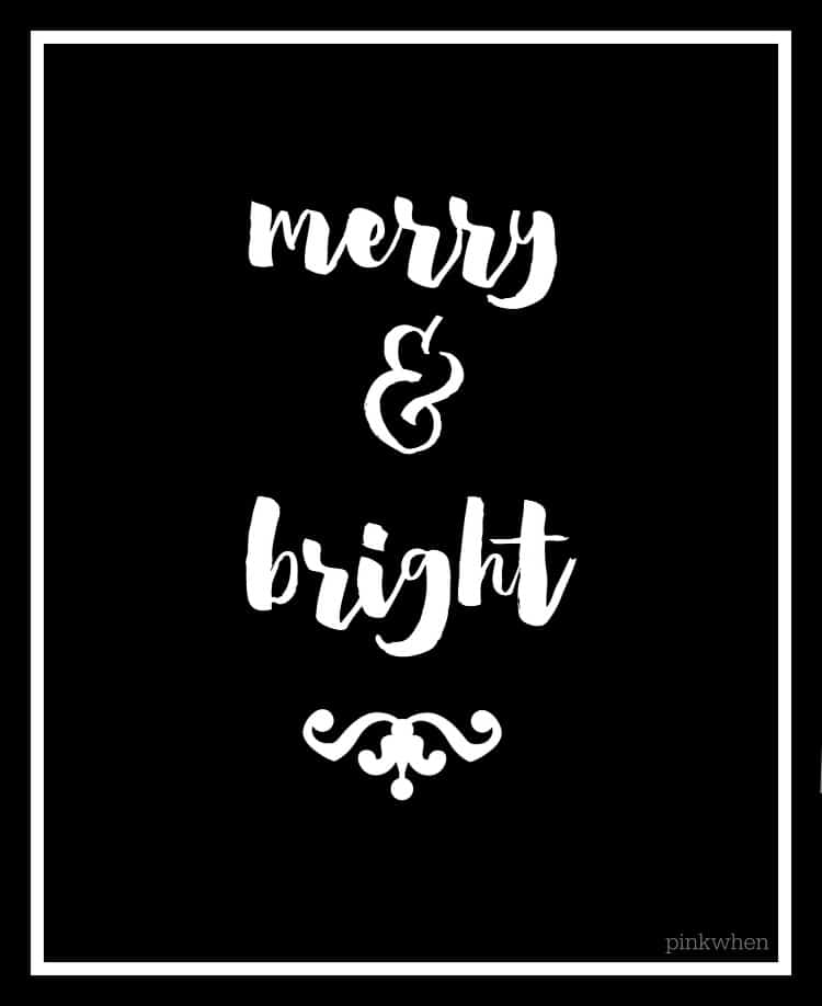 5 Free Black and White Christmas Printables