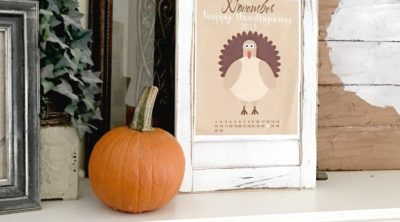 Thanksgiving 2015 is right around the corner! Download this cute FREE Thanksgiving countdown printable. Perfect for schools and home | PinkWhen