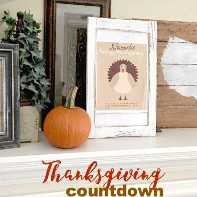 Happy Thanksgiving November Free Printable