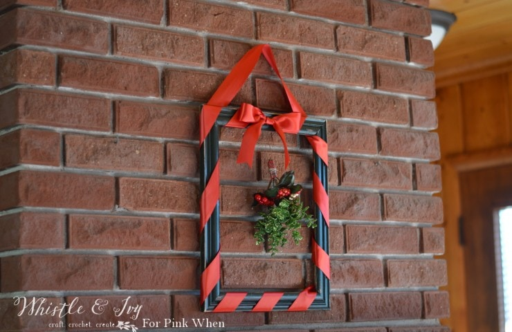 Framed Mistletoe Christmas Wreath