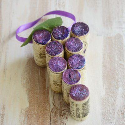 Wine Cork Grape Ornament