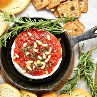 Baked Brie with Sweet Red Pepper Jam