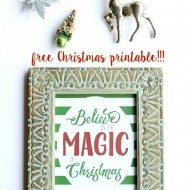 Believe Free Christmas Printable