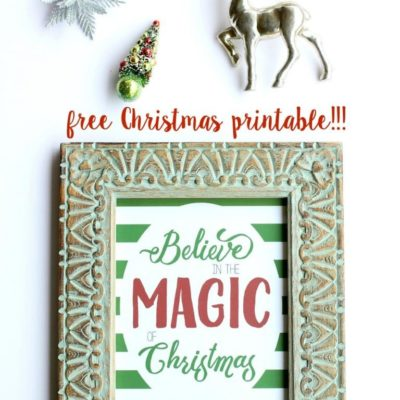 Believe Free Christmas Printable