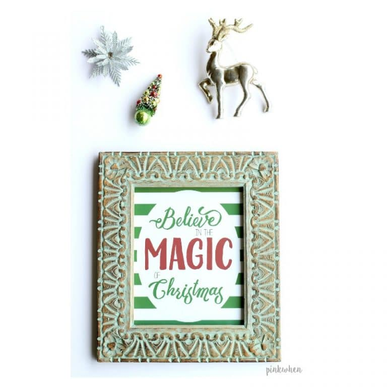 Believe in the Magic of Christmas - Printable - PinkWhen - Christmas Printable