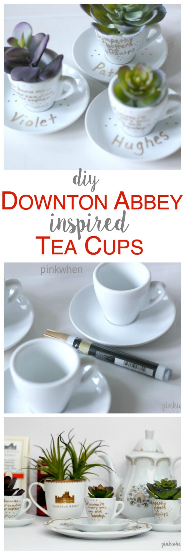 DIY Downton Abbey Teacups
