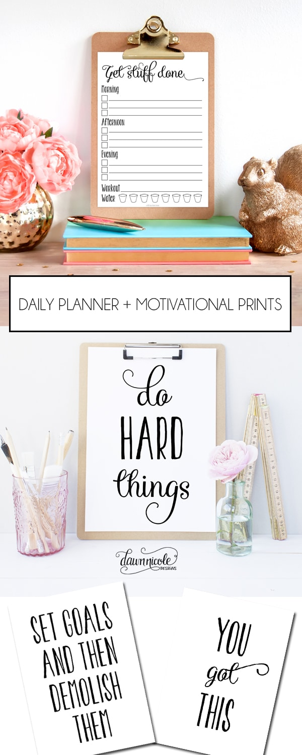 Daily Planner and Motivational Prints