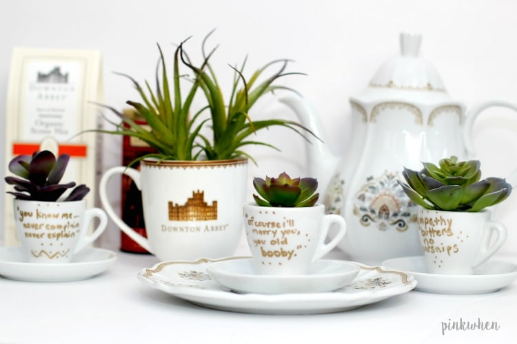 DIY Inspired Downton Abbey Tea Cups