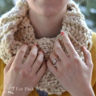 (Almost) 30 Minute Ribbed Crochet Cowl