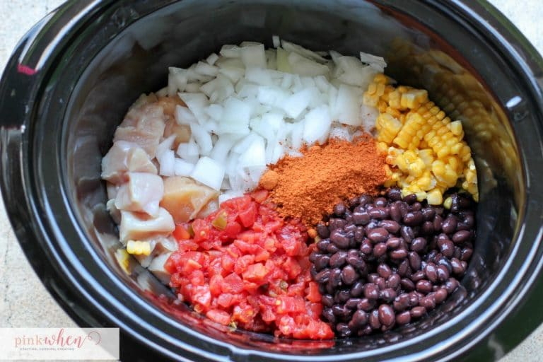 Chicken Taco Crock Pot Recipe | Super easy recipe and ready in just a few hours! | PinkWhen