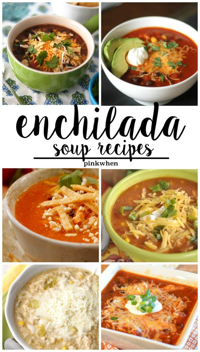 Enchilada Soup Recipes are some of my FAVORITE! Creamy, Spicy, and Delicious!