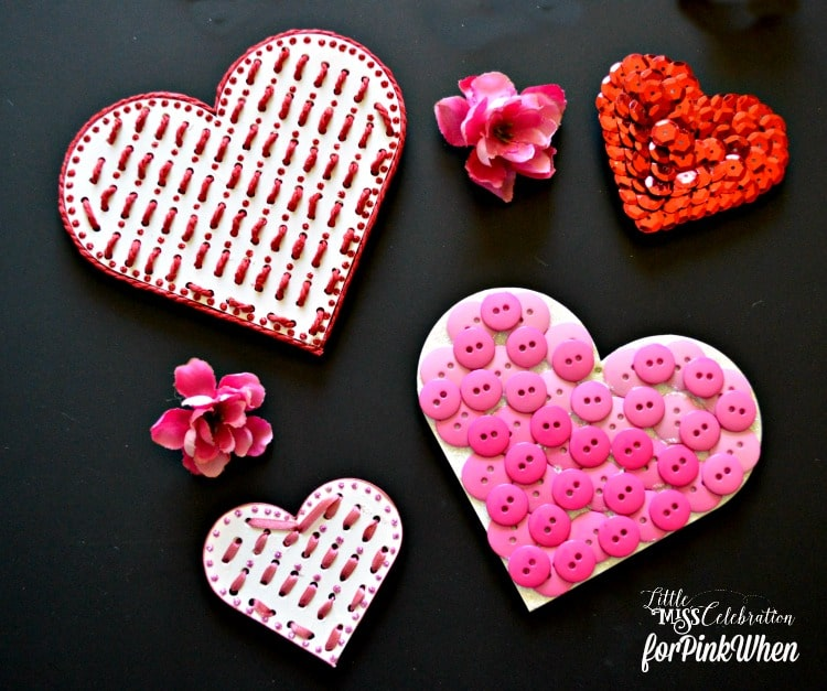 Valentine Heart Magnets - such a fun and easy diy valentine gift or decor idea.