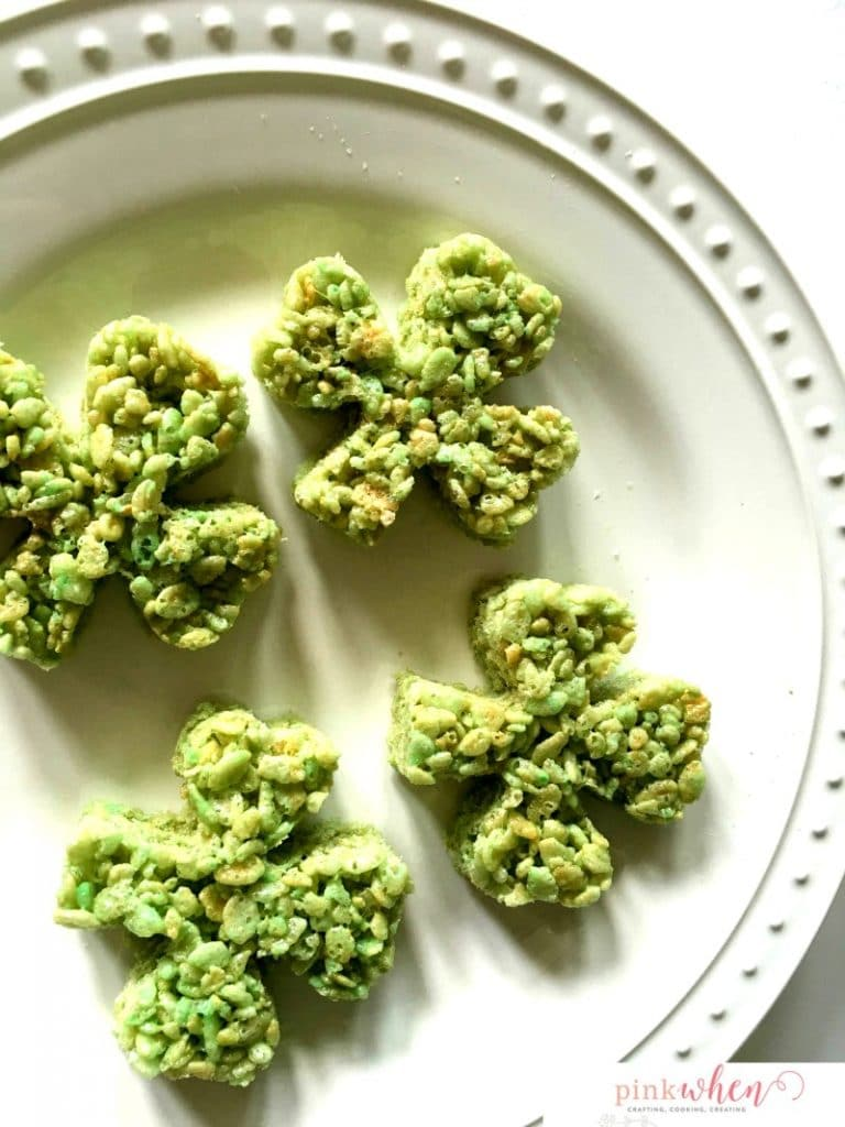 If you are looking for a clever St. Patrick's Day Dessert idea, you must try this deliciousSt. Patricks Day Four Leaf Clover Crispy Treat Recipe!