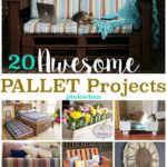 20 Amazingly Awesome Pallet Projects shared on PinkWhen.com   You can find pallet projects with step by step instructions!